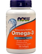 Now Foods Omega 3 1000mg 100 Softgels