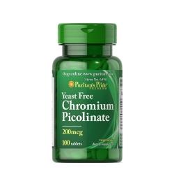 Puritan's Pride Chromium Picolinate 200mcg 100tabs
