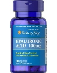 Puritan's Pride Hyaluronic Acid 100mg 30 Capsules