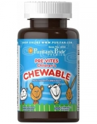 Puritan's Pride Pre-Vites Children's Multivitamin 100 Wafers