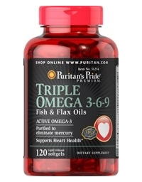 Puritan's Pride Triple Omega 3-6-9 120 Softgels