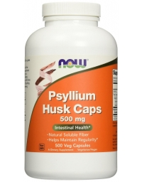 Now Foods Psyllium Husk 500mg 500 Capsules