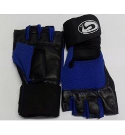Gloves GSN Art:WLG-1022 Leather Black/Blue