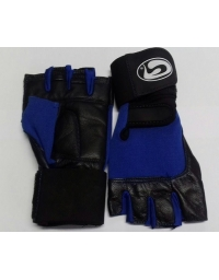 Gloves GSN Art:WLG-1022 Leather Black/Blue