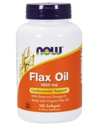 Now Foods Organic Flax Oil 1000mg 100 Softgels
