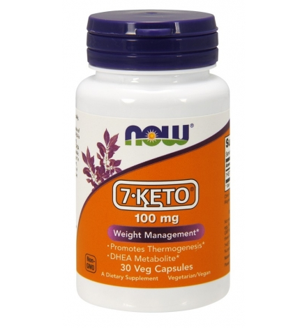 Now Foods 7- Keto 100mg 30 Capsules