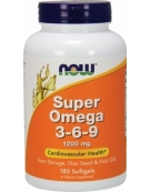 Now Foods Super Omega 3-6-9 1200mg 180 Softgels