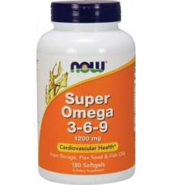 Now Foods Super Omega 3-6-9 1200mg 180 Softgels