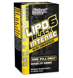 Nutrex Lipo 6 Black Intense Ultra Concentrate 60 Black Caps