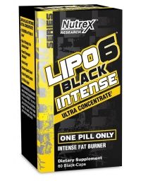 Nutrex Lipo 6 Black Intense Ultra Concentrate 60 Black Caps