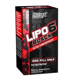 Nutrex Lipo 6 Black Ultra Concentrate 60 Black Caps - USA