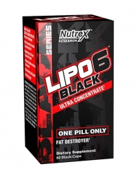 Nutrex Lipo 6 Black Ultra Concentrate 60 Black Caps - USA