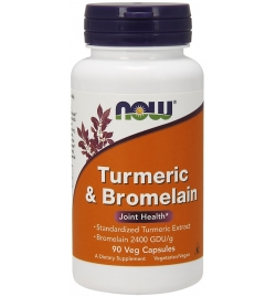 Now Foods Turmeric & Bromelain 600mg 90VCaps