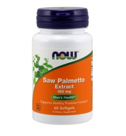 Now Foods Saw Palmetto Extract 160mg 60 Softgels