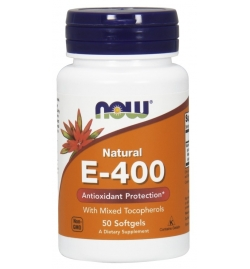 Now Foods Vitamin E-400 IU, Mixed Tocopherols 50 Softgels