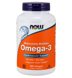 Now Foods Omega 3 1000mg 200 Softgels