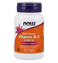 Now Foods Vitamin D-3 2,000IU 120Softgels