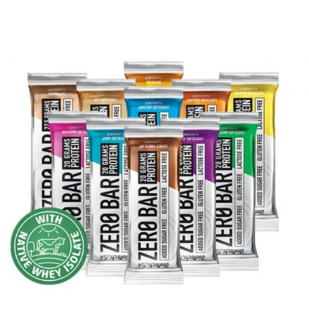 Biotech USA Zero Bar With Native Whey Box of 20pcs X 50g
