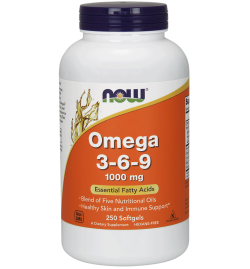 Now Foods Omega 3-6-9 1000 mg  250 Softgels