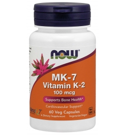 Now Foods MK-7 Vitamin K-2 100mcg 60 Veg Capsules