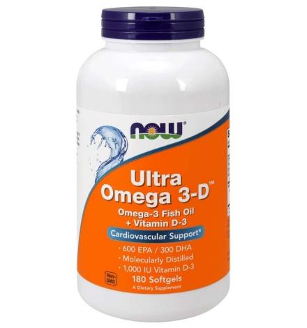 Now Foods Ultra Omega 3-D™ 180 Softgels