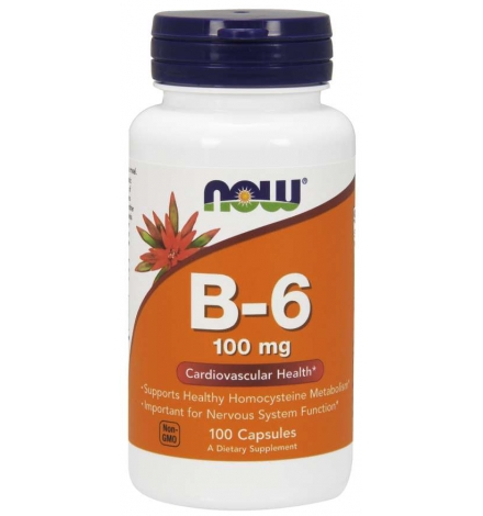 Now Foods Vitamin B-6 100mg 100Caps