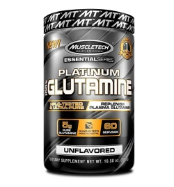 MuscleTech Platinum 100% Glutamine 302 grams