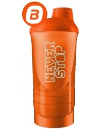 Shaker 3 Compartment Never Stop 600ml
