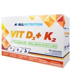 AllNutrition Vitamin D3 + K2 30 Capsules