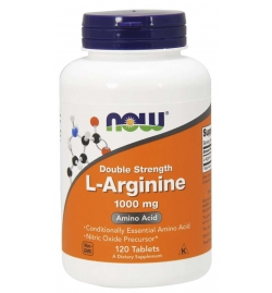 Now Foods L-Arginine Double Strength 1000 mg Tablets