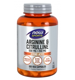 Now Foods Arginine & Citrulline 500/250mg 120VCaps