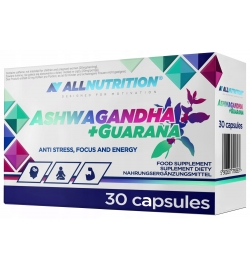 AllNutrition Ashwagandha + Guarana 30 Caps