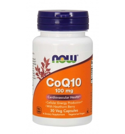 Now Foods CoQ10 100 mg with Hawthorn Berry Veg Capsules
