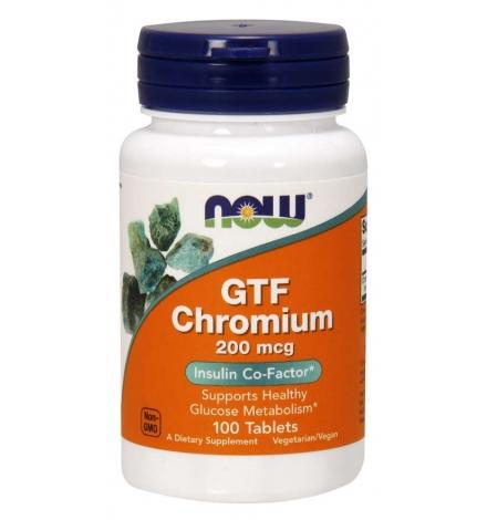 Now Foods GTF Chromium 200 mcg 100 Tablets