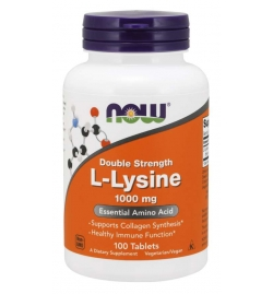 Now Foods L-Lysine 1000 mg 100 Tablets