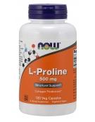 Now Foods L-Proline 500 mg 120 Veg Capsules