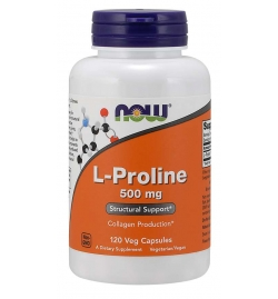 Now Foods L-Proline 500 mg 120 Veg Capsules
