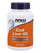 Now Foods Cod Liver Oil, Extra Strength 1,000 mg 90 Softgels