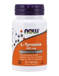 Now Foods L-Tyrosine 500mg 60Caps