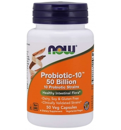 Now Foods Probiotic-10™ 50 Billion 50 Veg Capsules