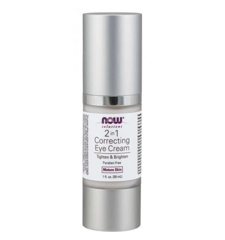 Now Foods 2 in 1 Correcting Eye Cream | Skin Care 30ml