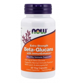 Now Foods Beta-Glucans with ImmunEnhancer™, Extra Strength 60 Veg Capsules