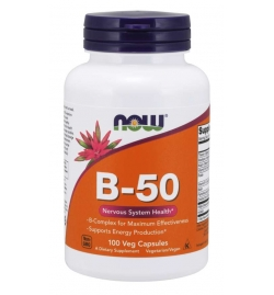 Now Foods Vitamin B-50 mg 100 Veg Capsules