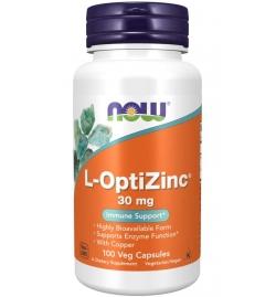 Now Foods L-OptiZinc® 30 mg 100 Veg Capsules
