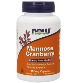 Now Foods Mannose Cranberry 90 Veg Capsules