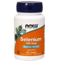 Now Foods Selenium 100 mcg 100 Tablets
