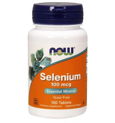 Now Foods Selenium 100 mcg 100 Tablets