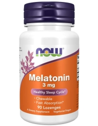 Now Foods Melatonin 3 mg 90 Lozenges