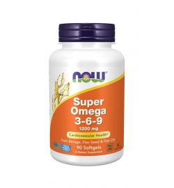 Now Foods Super Omega 3-6-9 1200mg 90 Softgels