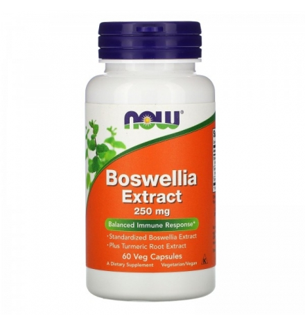 Now Foods Boswellia Extract 250mg 60 V Caps